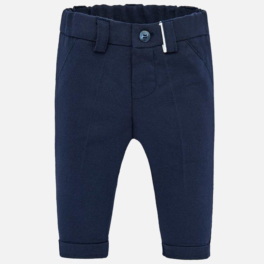 pantalon stretch - blauw-1