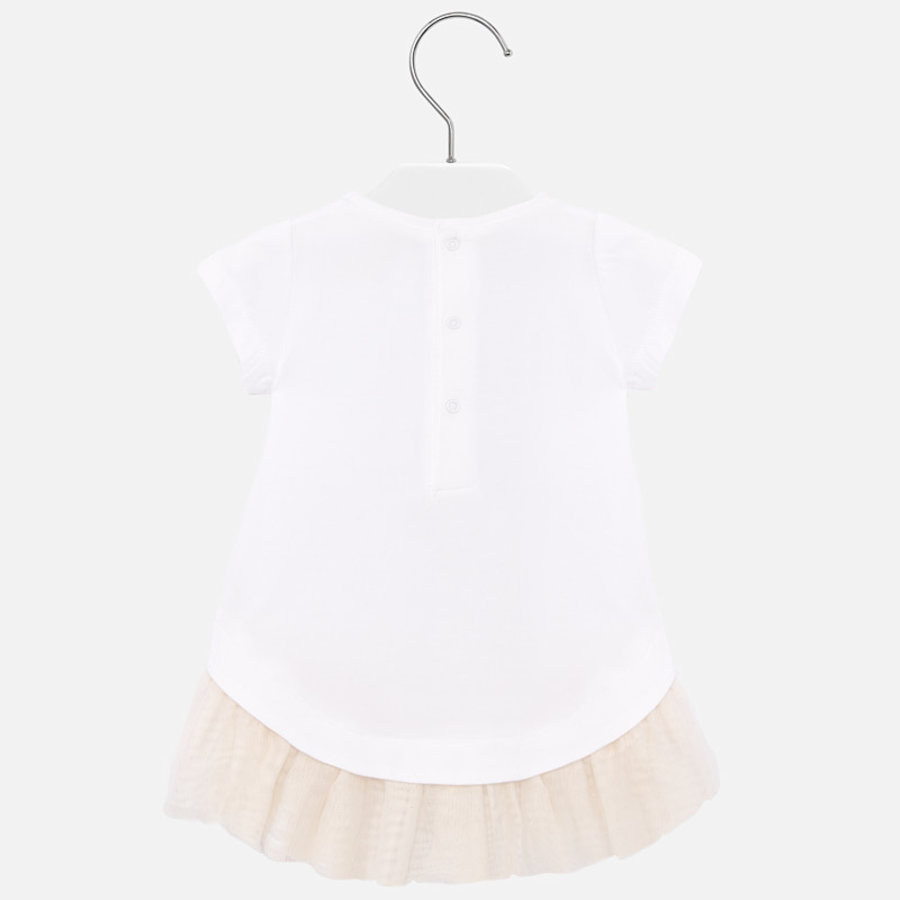 jurk voile met t-shirt - champagne-3