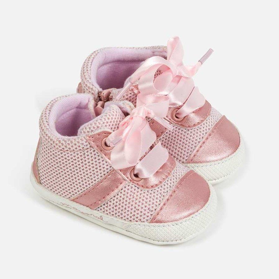 sneaker met rits en strik - roze-1