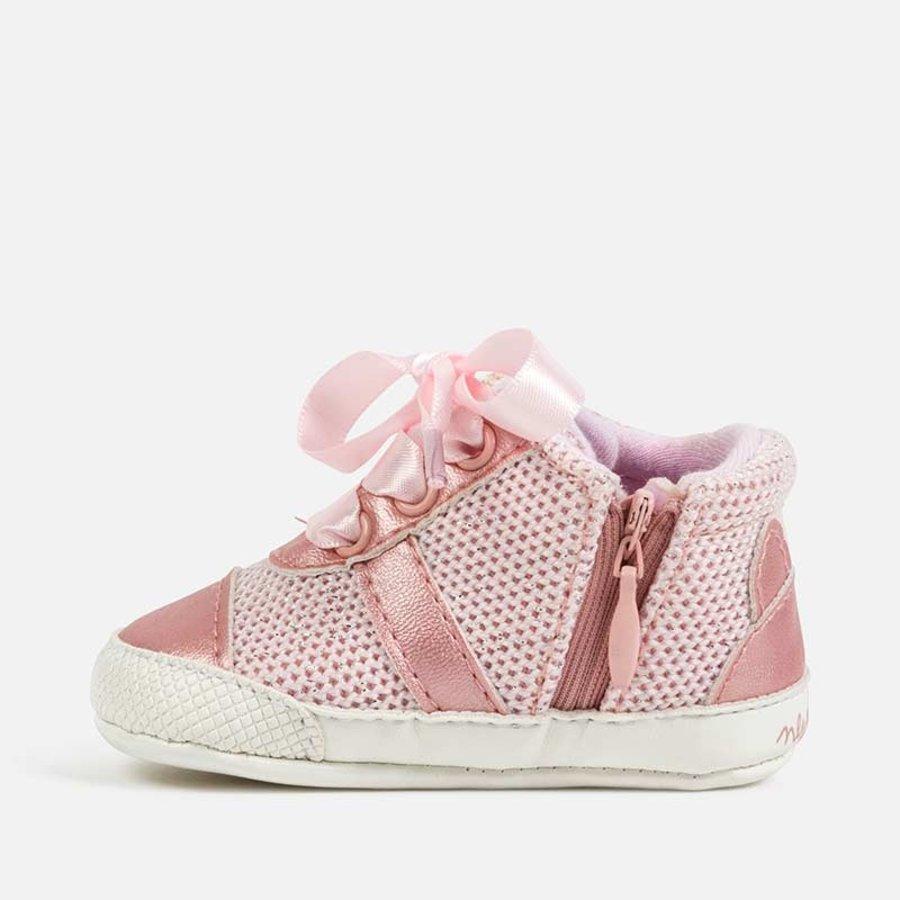 sneaker met rits en strik - roze-2