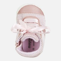 thumb-sneaker met rits en strik - roze-3