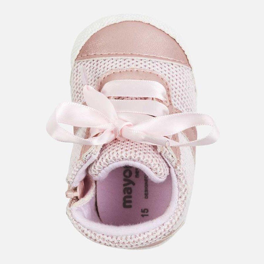 sneaker met rits en strik - roze-3