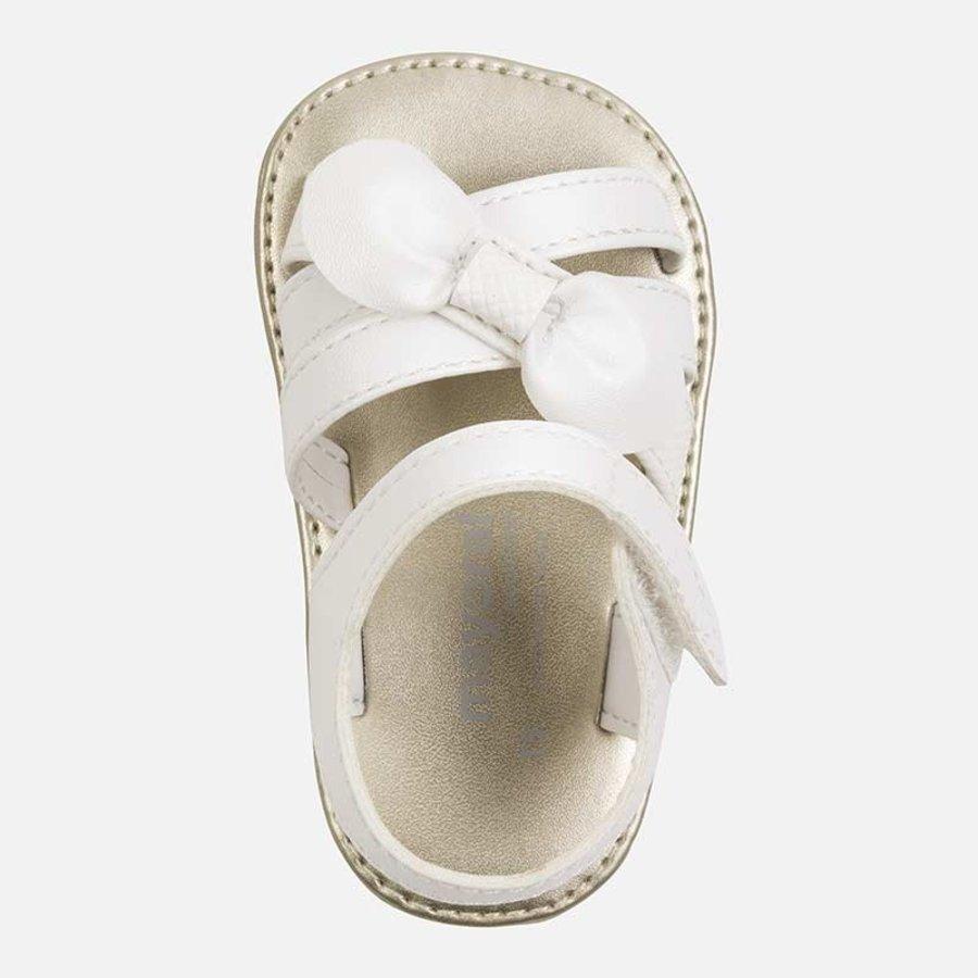 sandaal met strik - wit-2