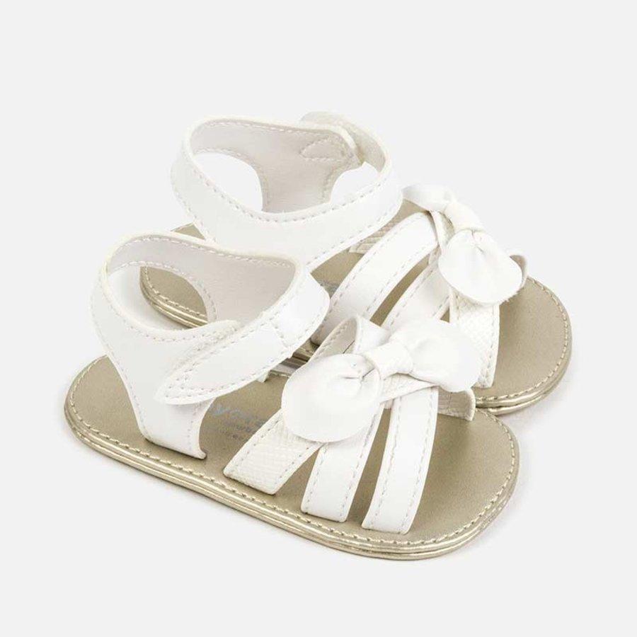 sandaal met strik - wit-1