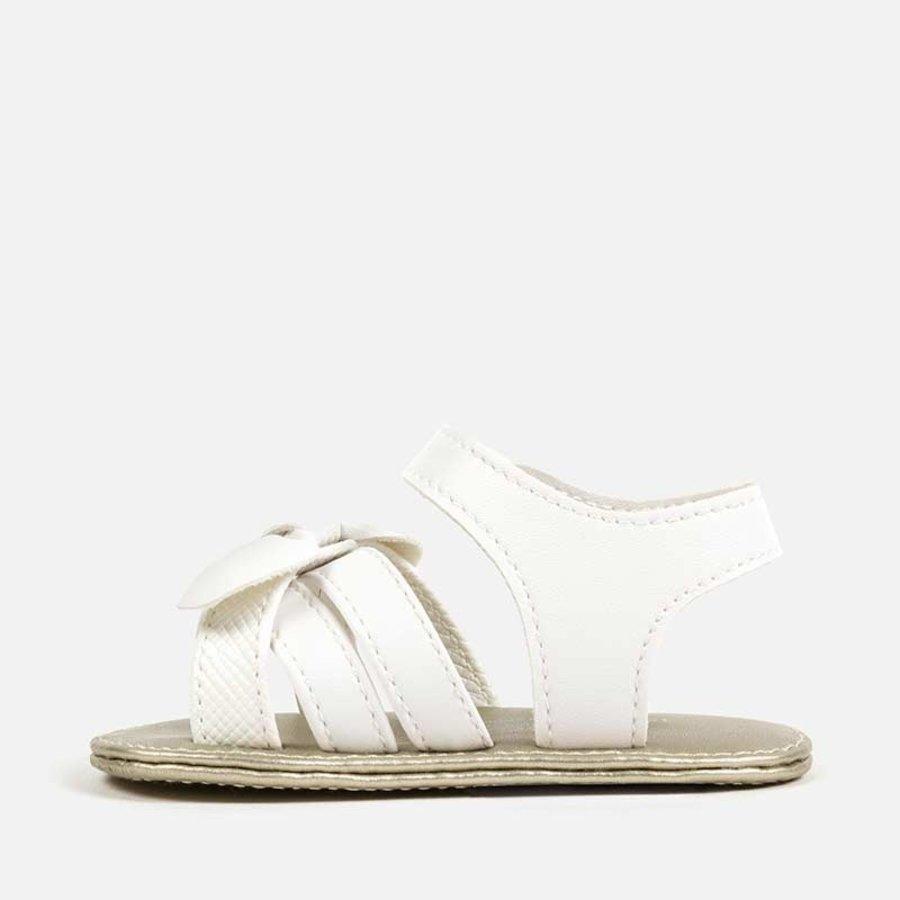 sandaal met strik - wit-3