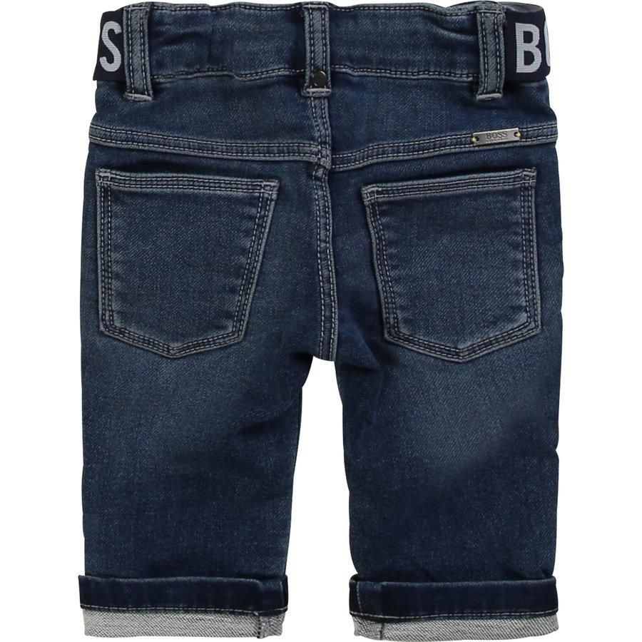 spijkerbroekje stretch met logoband-2