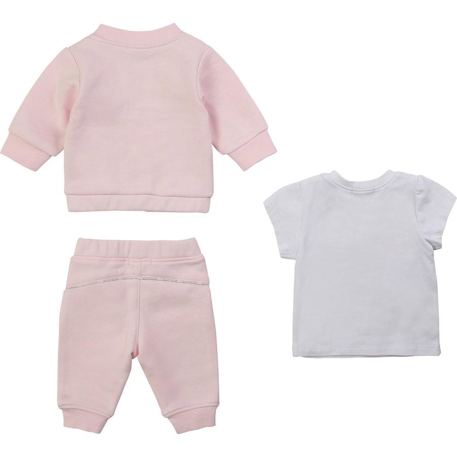 2-delig joggingpakje met t-shirt - roze-2