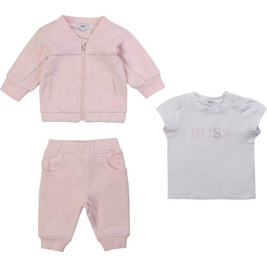 2-delig joggingpakje met t-shirt - roze-1