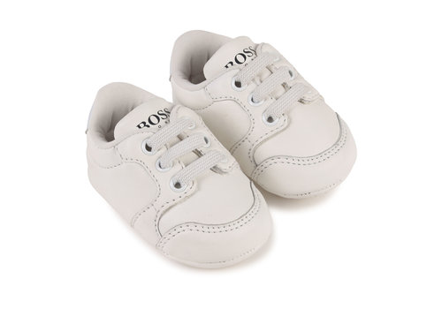 Hugo Boss leren sneakers - wit
