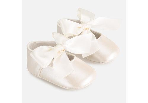 Mayoral schoentjes met strik - off-white