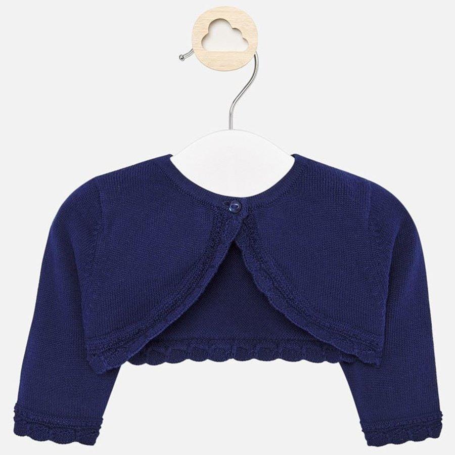 baby vestje met schulprand - blauw-1