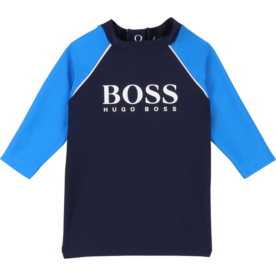 t-shirt UV werend - blauw-1