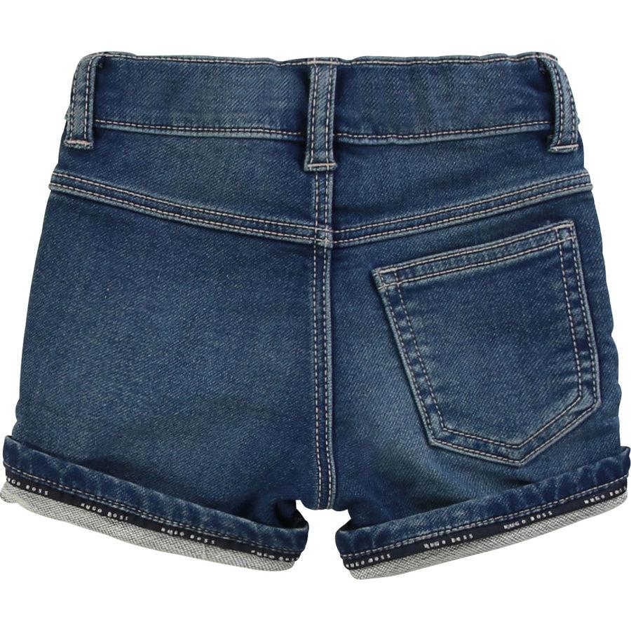 kort broekje stretch jeans - blauw-2