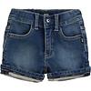 Hugo Boss kort broekje stretch jeans - blauw
