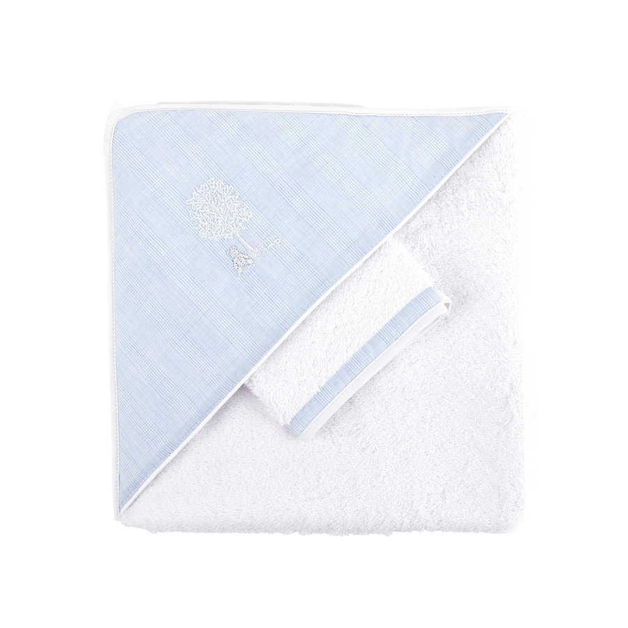 Sweet Blue Kaphanddoek + washandje-1