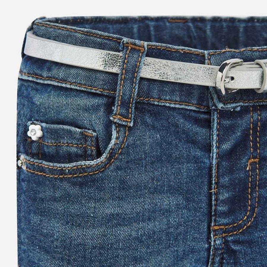 spijkerbroekje margriet met riem - blauw-3