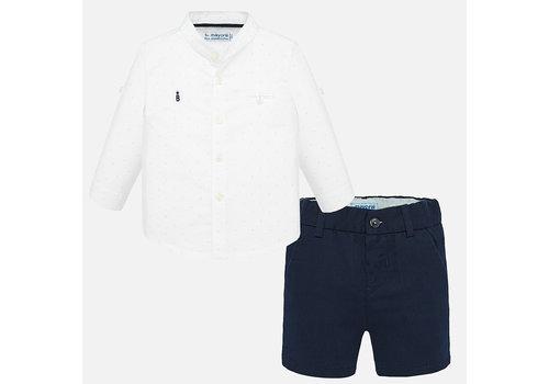 Mayoral broekje met overhemd - blauw