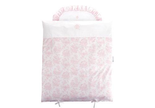 Théophile & Patachou Sweet Pink Donsovertrek wieg 80x80cm + sloop