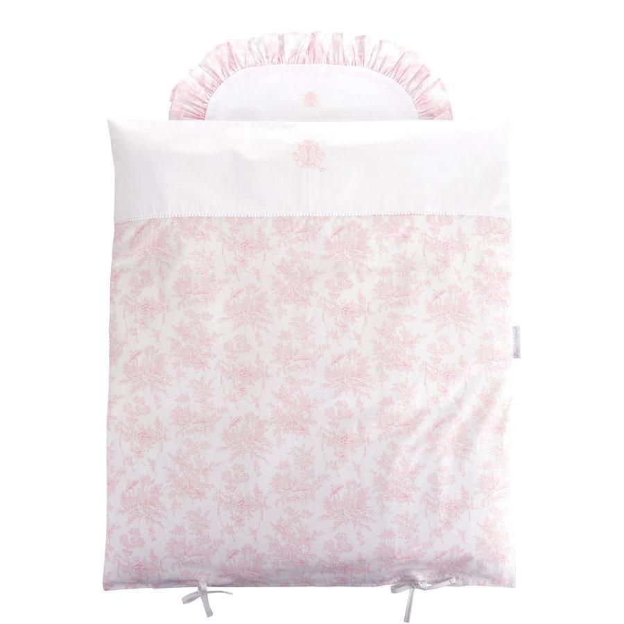 Sweet Pink Donsovertrek wieg 80x80cm + sloop-1