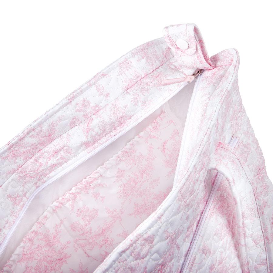 Sweet Pink Verzorgingstas + waskussen - Gewatteerd-4