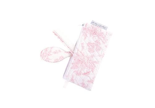 Théophile & Patachou Sweet Pink Borstel en kam + pochet