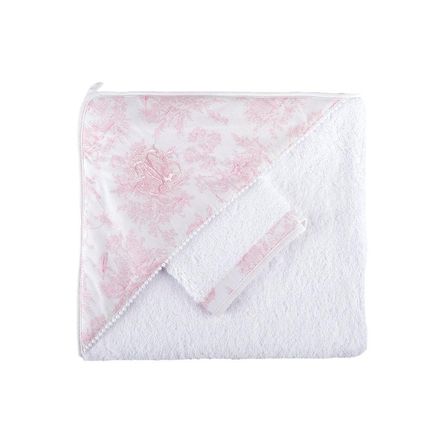 Sweet Pink Kaphanddoek + washandje-1