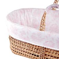 thumb-Sweet Pink Rieten reiswieg + Aankleding-2