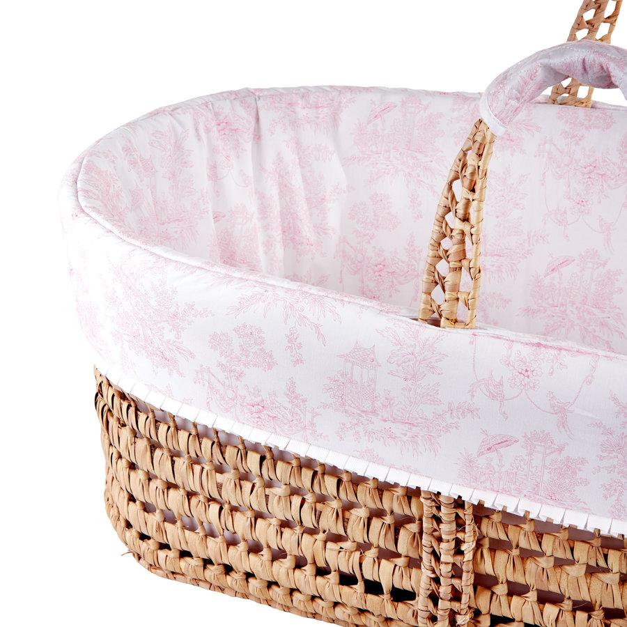 Sweet Pink Rieten reiswieg + Aankleding-2
