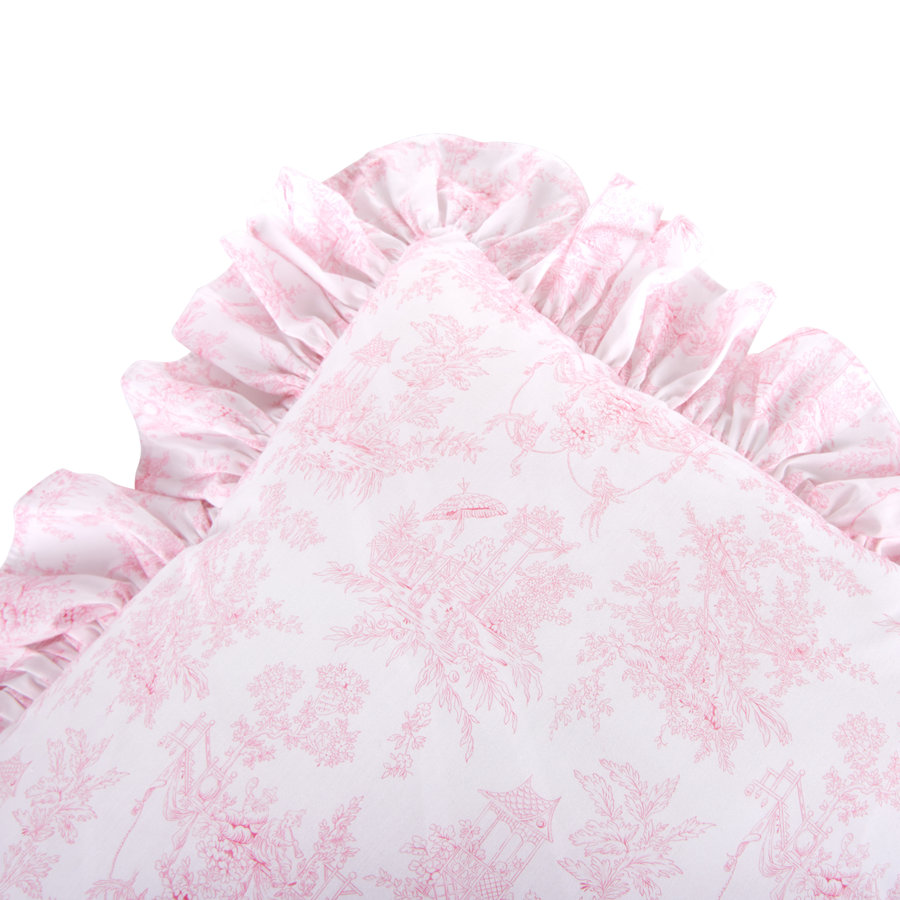 Sweet Pink Kussen volant geprint-2