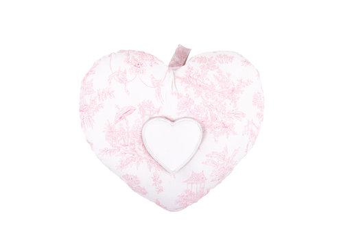 "Théophile & Patachou Sweet Pink Muziekkussen ""hart"""