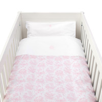 thumb-Sweet Pink Donsovertrek bed 100x135cm  + sloop-1