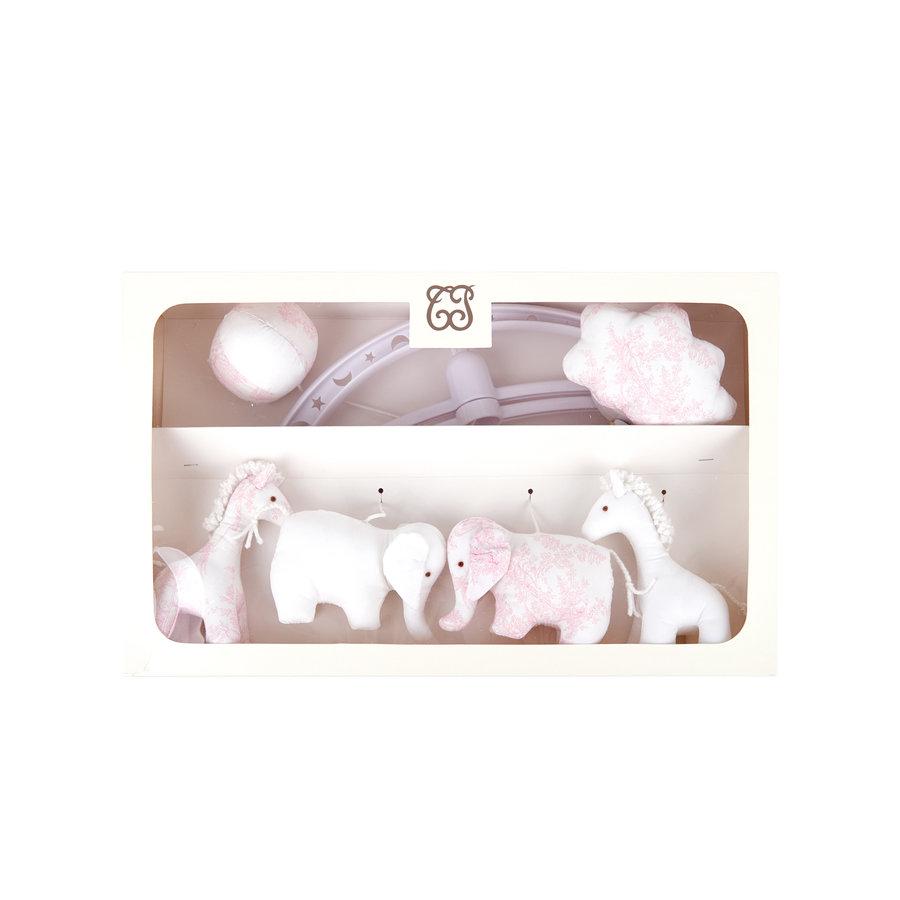 "Sweet Pink Muziekmobiel ""olifanten en giraffen""-1"