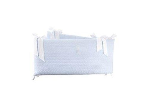 Théophile & Patachou Sweet Blue Bedbeschermer 60cm - geborduurde (60x60x60cm) H:32cm