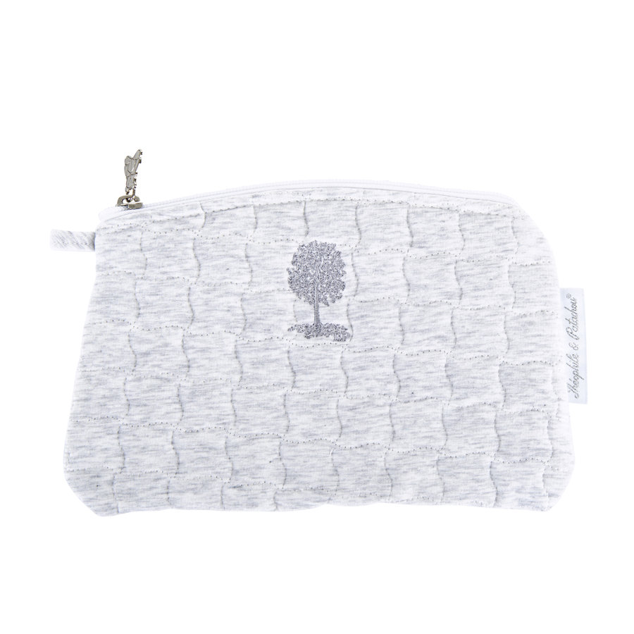 Soft Grey Platte tas - Gewatteerd-1