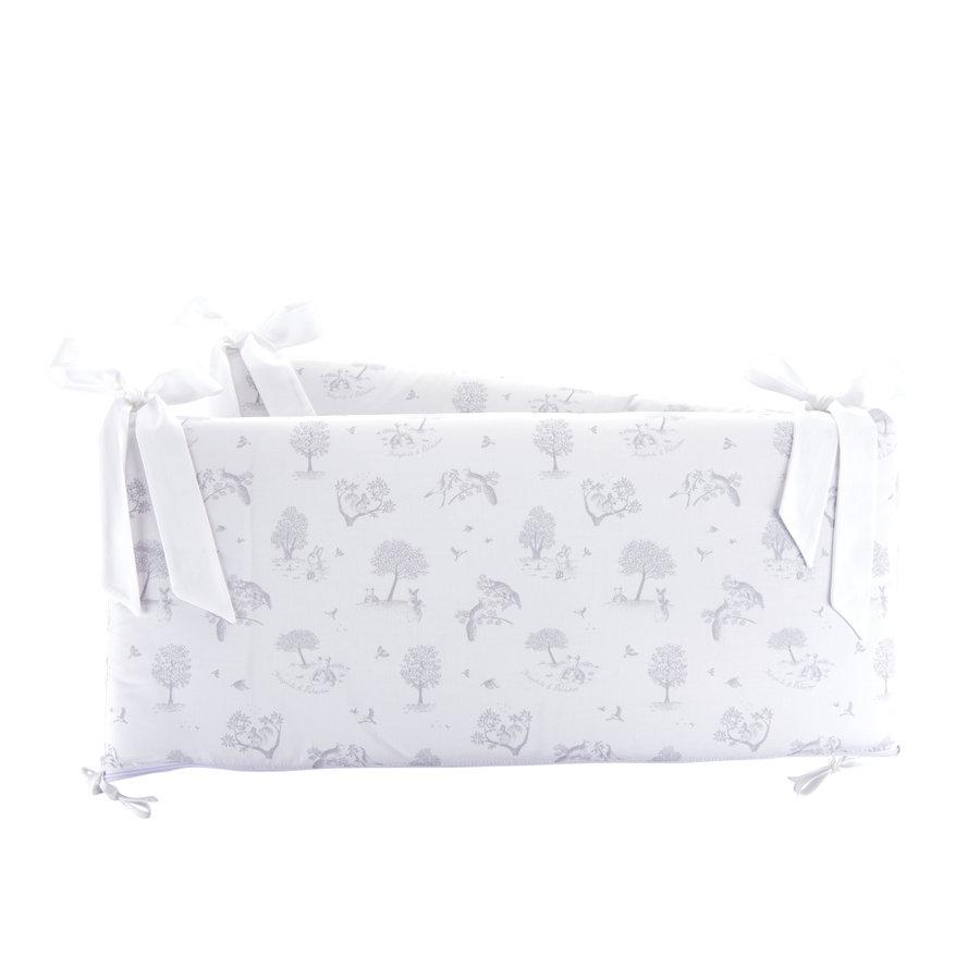 Soft Grey Bedbeschermer 60cm - Bedrukt (60x60x60cm) H:32cm-1
