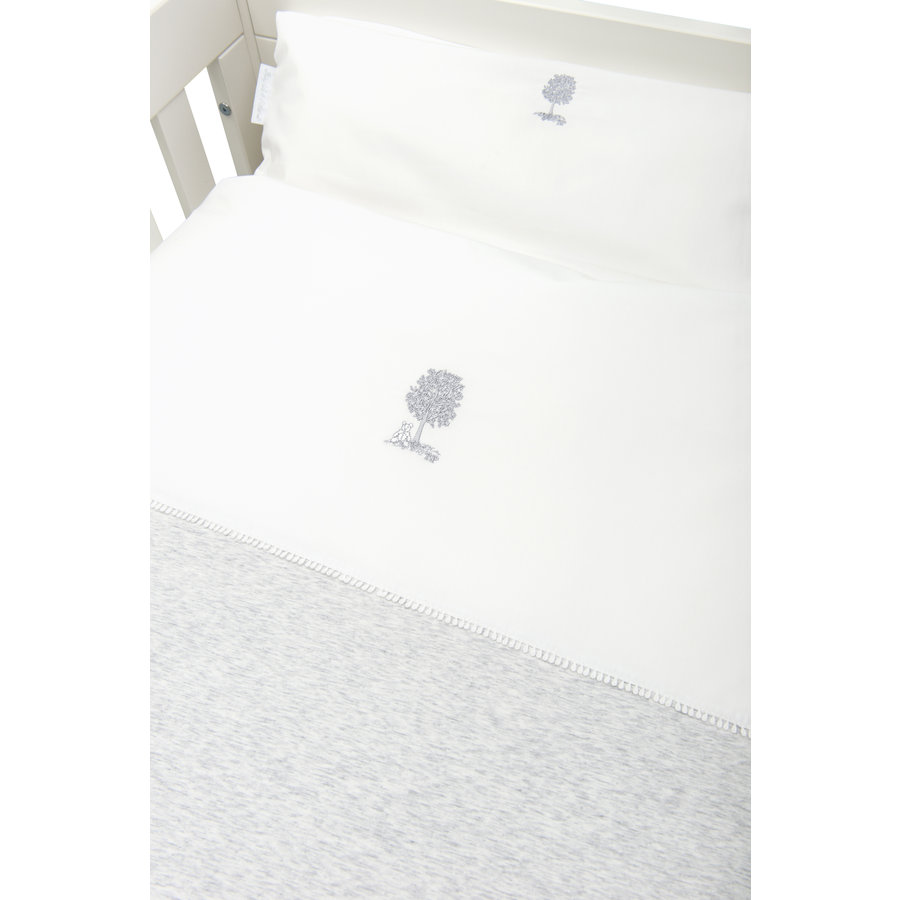 Soft Grey Donsovertrek bed 100x135cm  + sloop-2