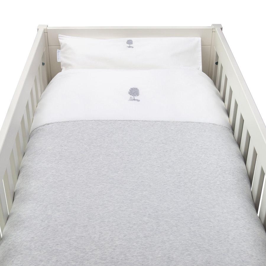 Soft Grey Donsovertrek bed 100x135cm  + sloop-1