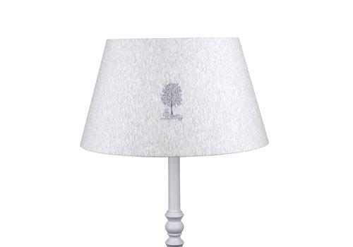 Théophile & Patachou Soft Grey Grote lampenkap geborduurd