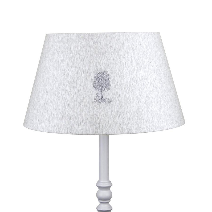 Soft Grey Grote lampenkap geborduurd-1