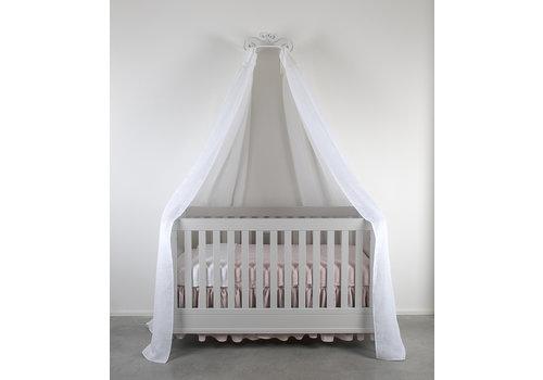 Théophile & Patachou Soft Grey Set 2 hemels linten voor bed 240x150 - linnen