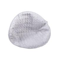 thumb-Soft Grey Kussen voor rieten kinderzetel - gewatteerd-2