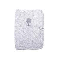 thumb-Soft Grey Hoes geboorteboekje - Gewatteerd-1