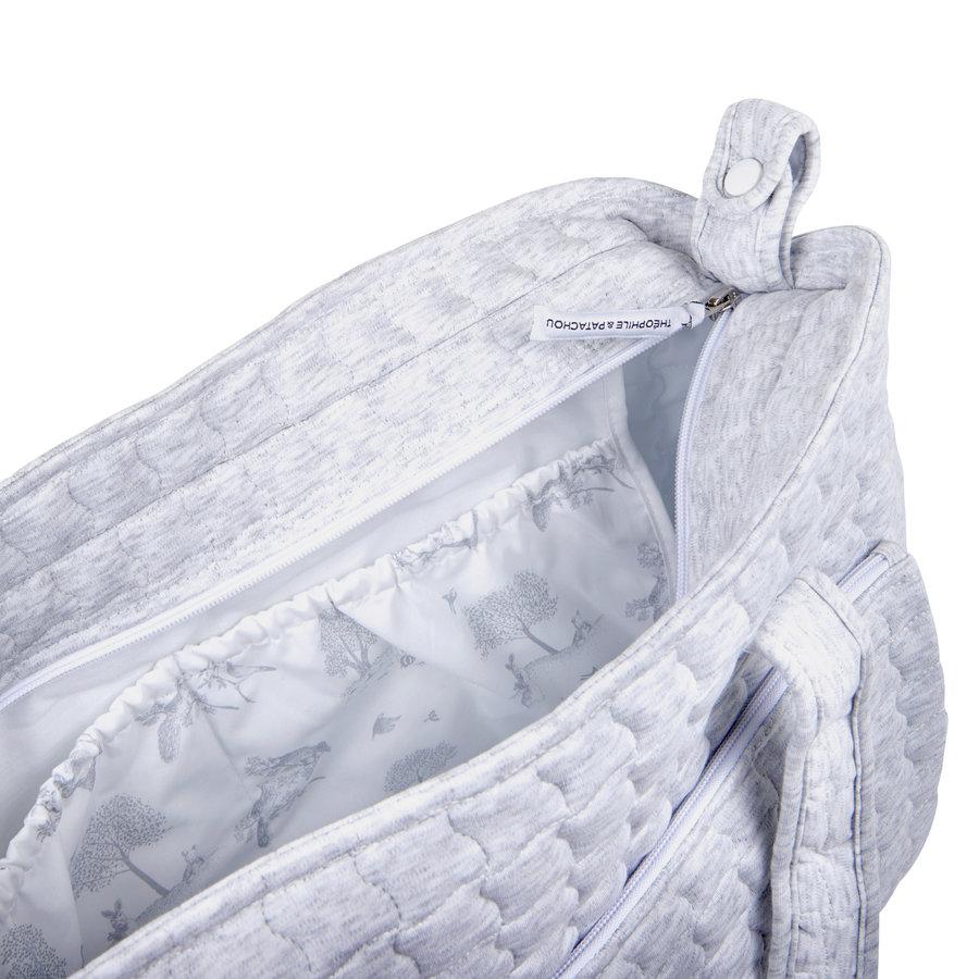 Soft Grey Verzorgingstas + waskussen - Gewatteerd-4