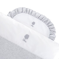 thumb-Soft Grey Donsovertrek wieg 80x80cm + sloop-2