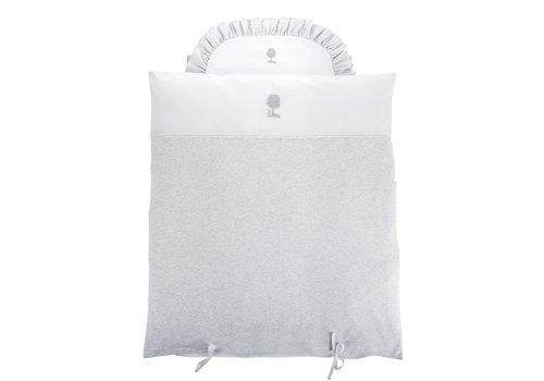 Théophile & Patachou Soft Grey Donsovertrek wieg 80x80cm + sloop
