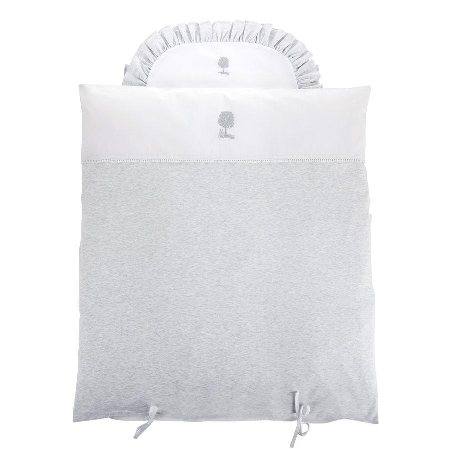 Soft Grey Donsovertrek wieg 80x80cm + sloop-1