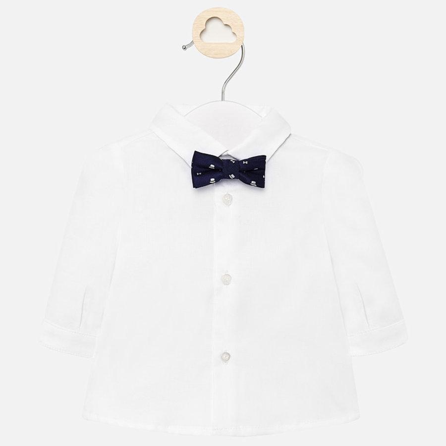 overhemd met vlinderdas - wit-1