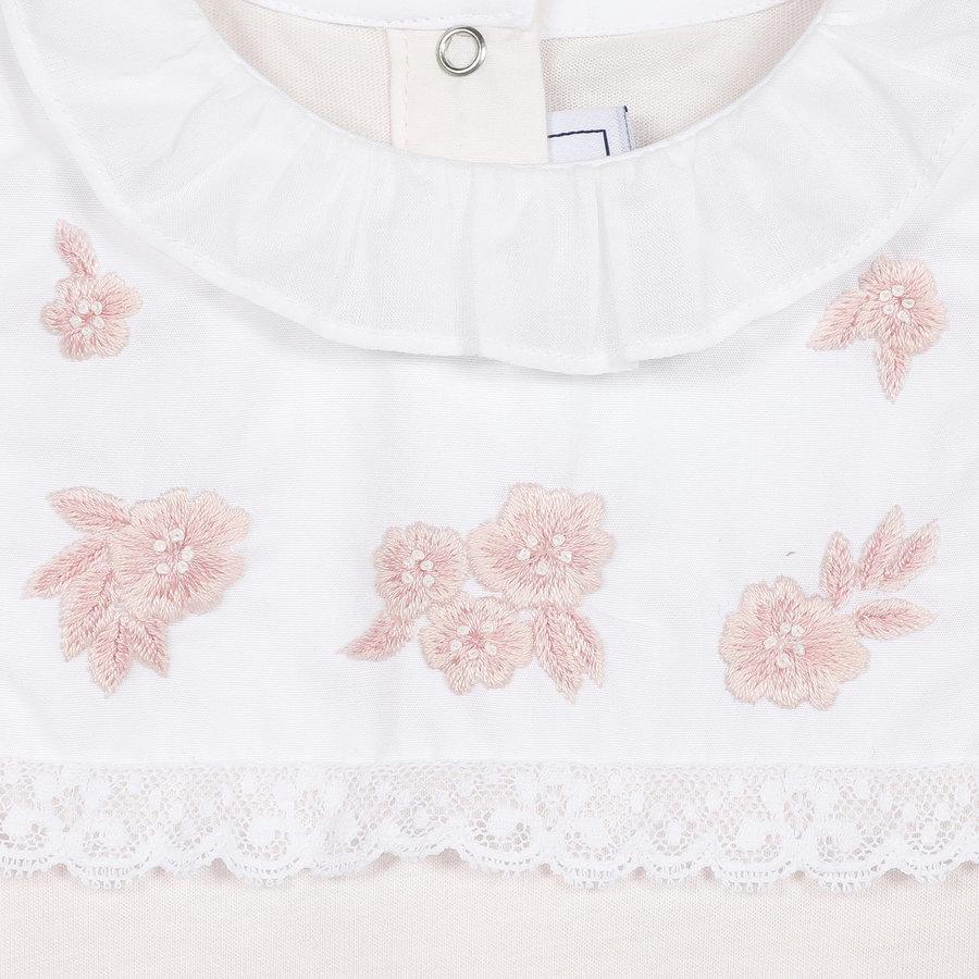 boxpak met hand geborduurde roosjes - roze-2