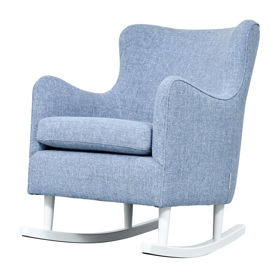 Rocking Chair Linnen - Blauw-2