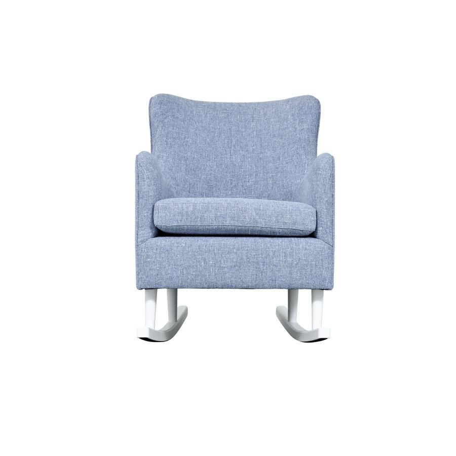 Rocking Chair Linnen - Blauw-3